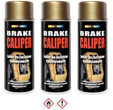 3 Stück 400ml gold Bremssattel Lack Bremslack Bremsen Sattel Tuning