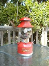 Vintage 50's Coleman Lantern 200A 9/57 1957 w/Igniter Red Pyrex Glass Globe