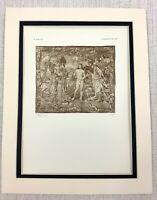 1927 Antico Stampa Il Battesimo di Cristo Gesù Tessuta Arazzo Dutch Flemish Art