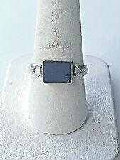 925 STERLING SILVER LAPIS LAZULI SIGNET RING SIZE 8