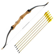 b4a4a47a6 kit con Arco in legno ricurvo Exe 18 Libbre e 5 Frecce in legno 75 cm