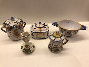 Small Collection Of Henriot Quimper Faience France.