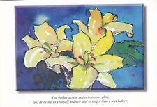 Eddie Askew Lillies Postcard Unused vgc