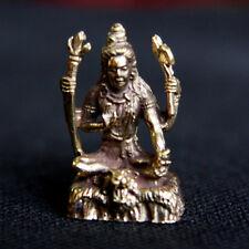 Sitting Lord Shiva Hindu God Amulet Brass Statue Figurine DBH