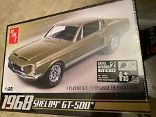 Amt Model 1968 Ford Shelby Gt-500 1:25 Scale Model Kit Factory Sealed