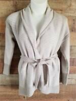 Simply Vera Vera Wang Womens Sz S Cardigan Sweater Open Tie Front Beige