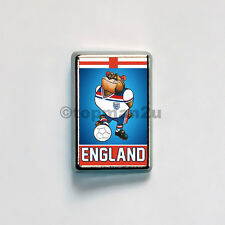 New Quality Rectangular Metal Pin Badge -  ENGLAND Bulldog Bobby Retro Mascot