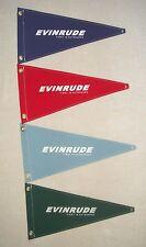 EVINRUDE Vintage Style Outboard Motor Boat Flag Pennant Retro Memorabilia