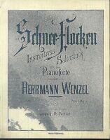 Herrmann Wenzel , Schnee-Flocken,  übergroße, alte Noten