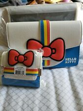Loungefly Hello Kitty - 45th Anniversary Striped Waist Bag and Matching Wallet