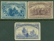 Edw1949Sell : Usa 1893 Scott #230-31, 33 Mint Original Gum. Catalog $83.00.