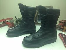 MATTERHORN MILITARY USA BLACK LEATHER LACE UP ENGINEER BOSS ARMY BOOTS 12.5 W