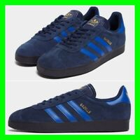 Adidas Gazelle Mens Trainers Shoes Navy Blue UK Size 6 7 8 9 10 11 12 13 Sneaker