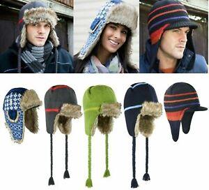 Unisex Sherpa Hat Mens Womens Winter Faux Fur Fleece Russian Trapper Ear Cover