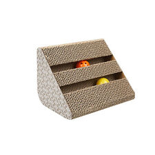 Cat Kitten Corrugated Scratch Board Pad Mat Ball Scratcher Bed Claws Care Toy