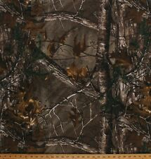 Jersey Knit Realtree Xtra Camo Hunting Camouflage Brown Fabric by Yard A509.19