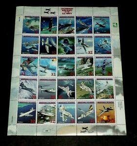 MARSHALL ISLANDS,1998, LEGENDARY AIRCRAFT, U.S. NAVY, SHEET/25, MH, NICE! LQQK!