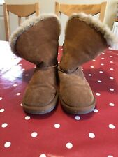 Lovely Tan Next Girls Suede Ugg - Esque Boots Size 3