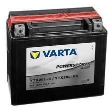 Varta Powersports Motorrad Batterie AGM 82000 YTX20L-BS 518901026A514 12V 18Ah