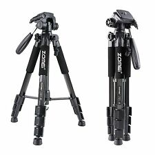 Q111 Black Proessional Aluminium Tripod&Pan Head for Canon Nikon Sony Camera