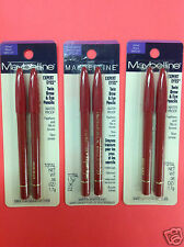 3 X Maybelline Expert Eyes Twin Brow & Eye Pencils ( Velvet Black ) NEW.