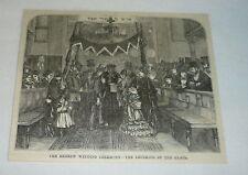 1877 magazine engraving ~ HEBREW WEDDING CEREMONY Crushing Of The Glass