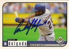 Carlos Delgado Blue Jays Signed 99 Upper Deck CC Card