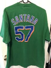 Johan Santana New York Mets Green Majestic Shirt Size XL