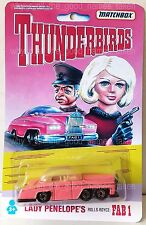 Matchbox THUNDERBIRDS Lady Penelope FAB1 Diecast Car In Repro Card Blister Pack