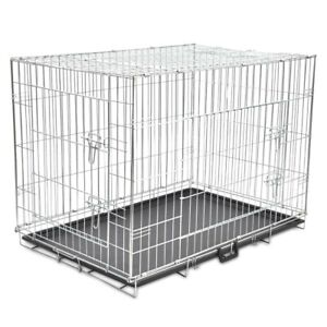 Jaula Plegable Cromada Doble Puerta para perro, viaje o casa, (XS - XXL) Ribe