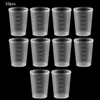 10Pcs 30/50ml Clear Plastic Measuring Cup Graduated Measure Beaker AU Best