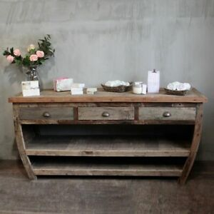 Centerpiece Recycled Wood Side Table