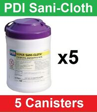 "Super Sani-Cloth Hard Surface Disinfectant Wipes, Pull-Up, 6""x7"", 5 Cnstr Q55172"