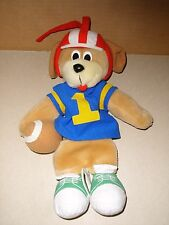 Vintage KIDS II Musical Plush Stuffed Football Theme Puppy Dog Pull Crib Toy