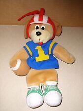 Vintage KIDS II Musical Plush Stuffed Football Theme Puppy Dog Pull Crib Toy