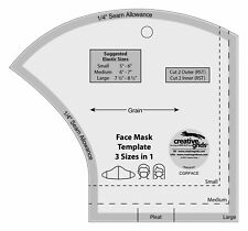 Creative Grid Face Mask Acrylic Template 3 Sizes in 1 With Instructions Cgrface