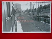 PHOTO  DALMUIR RAILWAY STATION VIEW FROM CARRIAGE 30/6/87