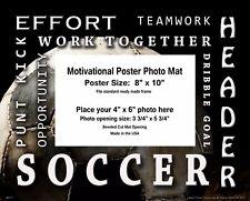 Soccer  Motivational Poster Photo Mat 8x10 Art Kids Youth Socks Shoes Ball MAT11