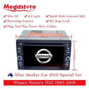 "6.2"" Car DVD GPS Head Unit Player Stereo Navi For Nissan Navara D22 1997-2016"