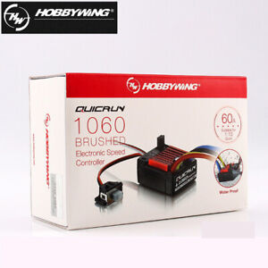 HobbyWing QuicRun 1060 Daejeon Palace Style Waterproof Brushed 60A ESC 1:10