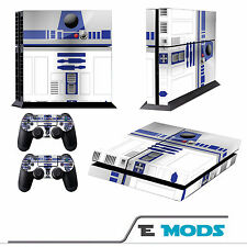 Star Wars R2D2 PS4 Playstation 4 Console Skin Vinyl + 2 Controller stickers