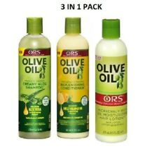 ORS OLIVE OIL SHAMPOO, REPLENISHING CONDITONER & OIL MOISTURIZING HAIR LOTION