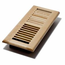 Decor-Grates-Wood-Floor-Register-Air-Vent-Louvered Solid Maple-4x10 4x12 4x14 2x