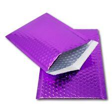 5 Purple 250mm x 180mm A5/C5 DVD Shiny Metallic Bubble Padded Mailing Envelopes