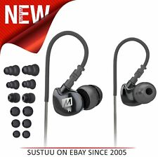 MEE Audio M6│In-Ear Headphones│Sports Earphone│Noise-Isolating│Water Res.│Black