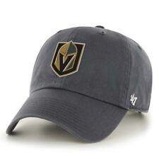 Las Vegas Golden Knights Gray CleanUp Logo Slouch Adjustable Hat by 47 Brand