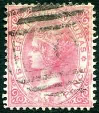 BRITISH HONDURAS-1878 6d Rose Perf 14 Sg 15 GOOD USED V31735