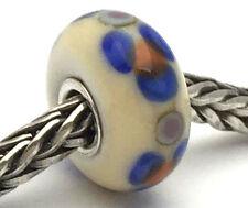 Authentic Trollbeads Ooak Murano Glass Unique Gray Bead #80 Charm New