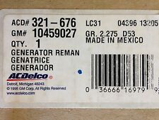 Generator ACDelco GM Original Equipment 321-676