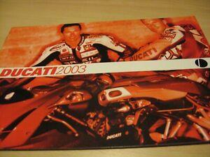 Ducati Range Motorcycle Sales Brochure 2003 + Price List